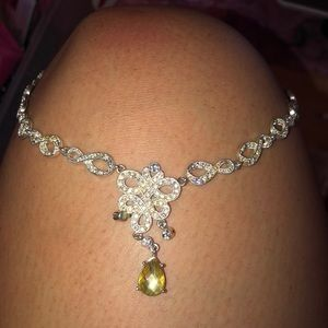 Silver Jeweled Necklace